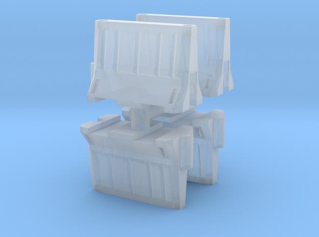 Interlocking traffic barrier (x4) 1/220 in Smooth Fine Detail Plastic