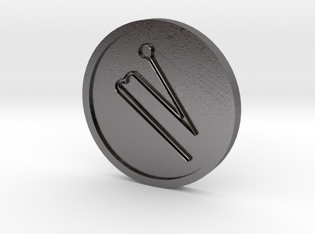 Agiel Intelligence of Saturn Coin in Polished Nickel Steel