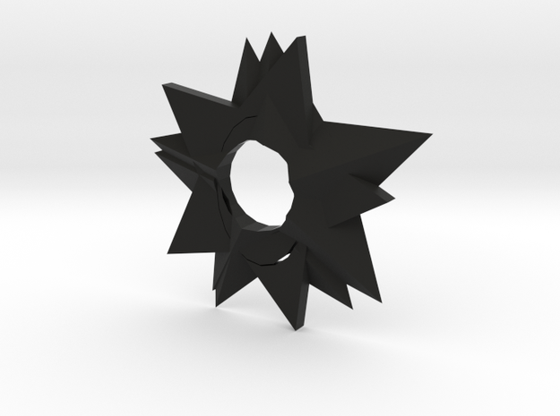 Ninja Star in Black Natural Versatile Plastic