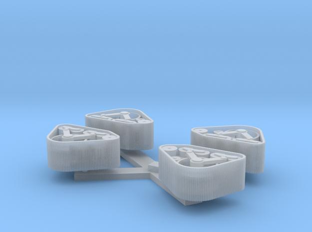 Loopwerk 1:48 Mattracks Voorkant 2 Sets  in Smoothest Fine Detail Plastic