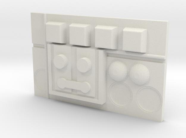 Hothbadge in White Natural Versatile Plastic
