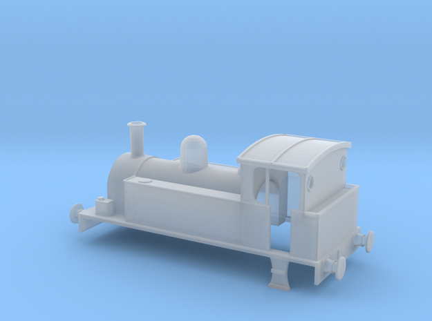OO Gauge 0-4-0T Industrial Locomotive Body in Smooth Fine Detail Plastic