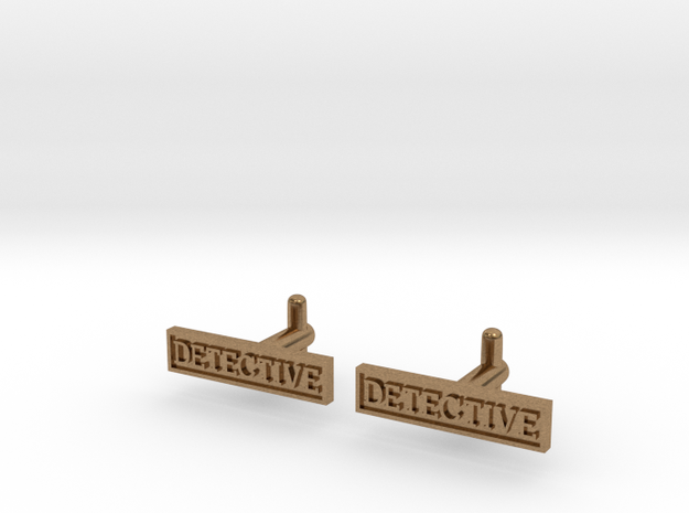 Detective Cufflinks (Style 2) Silver/Brass/Bronze in Natural Brass
