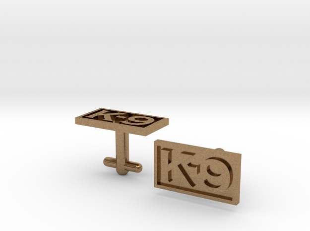 K-9 Cufflinks Silver, Brass, or Gold in Natural Brass