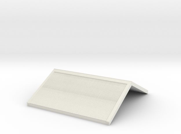 7mm Gilmore Signal Box Roof in White Natural Versatile Plastic