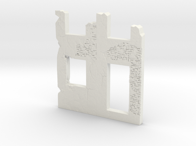 Building wall ruins 1/72 in White Natural Versatile Plastic