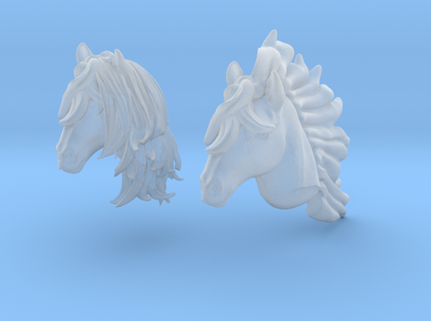 Anthropomorphic horse heads (HSD miniatures) in Smooth Fine Detail Plastic