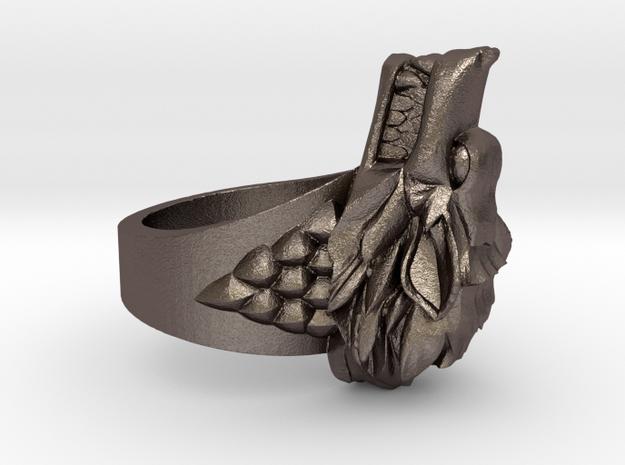 Direwolves Ring in Polished Bronzed-Silver Steel