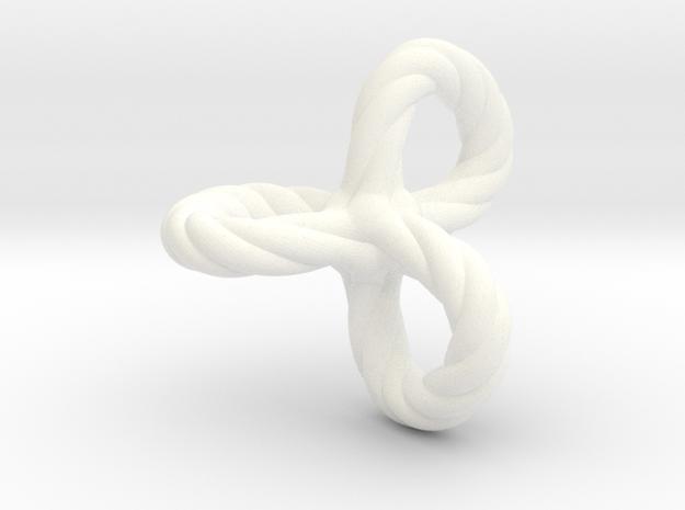 Quadro tripleloop in White Processed Versatile Plastic