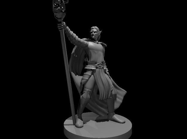 Drow Mage in Smooth Fine Detail Plastic