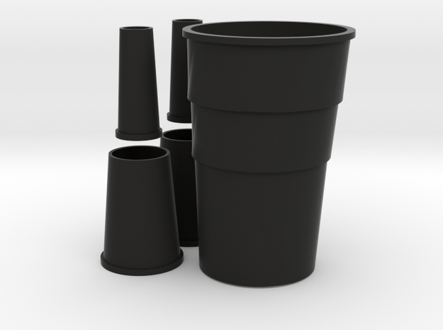 1/96 scale Nansen Stacks Set in Black Natural Versatile Plastic