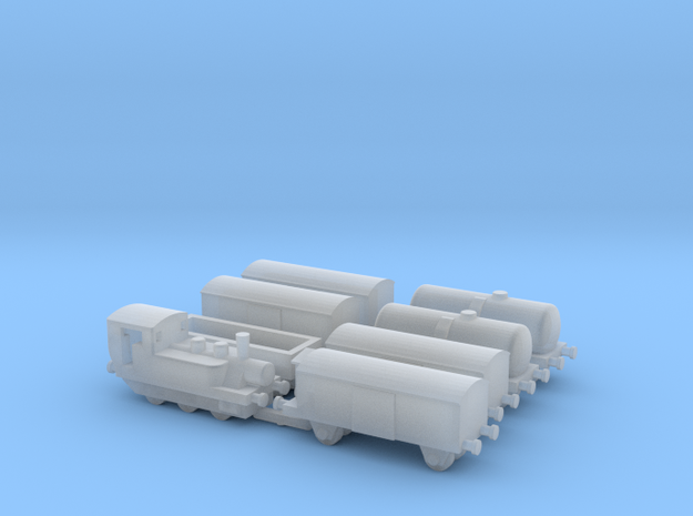 1/600th scale Train set in Smooth Fine Detail Plastic
