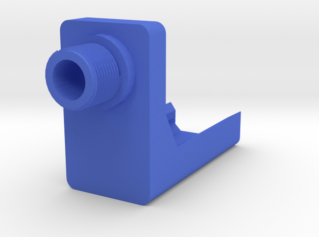 P30 ASP Frame Mounted Barrel Adapter (14mm-) in Blue Processed Versatile Plastic