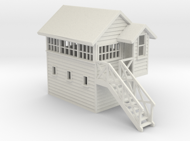 NZR Signal Box 1:76 (OO Scale) in White Natural Versatile Plastic