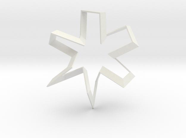 The Dancer (Medium) in White Natural Versatile Plastic