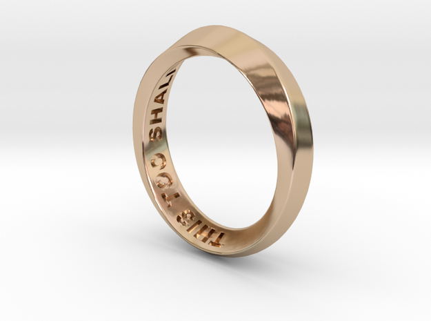 This Too Shall Pass - Mobius Ring in 14k Rose Gold