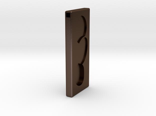 rune_01 in Polished Bronze Steel