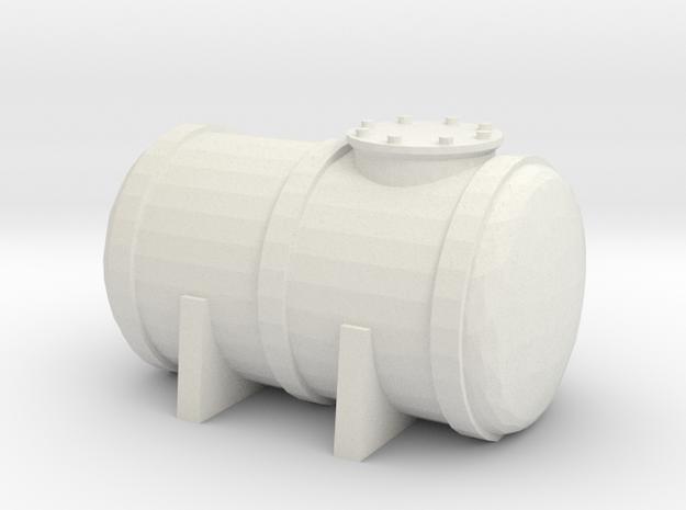 Petrol Tank 1/24 in White Natural Versatile Plastic