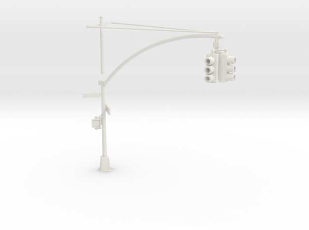Traffic Light - New York City OO scale in White Natural Versatile Plastic
