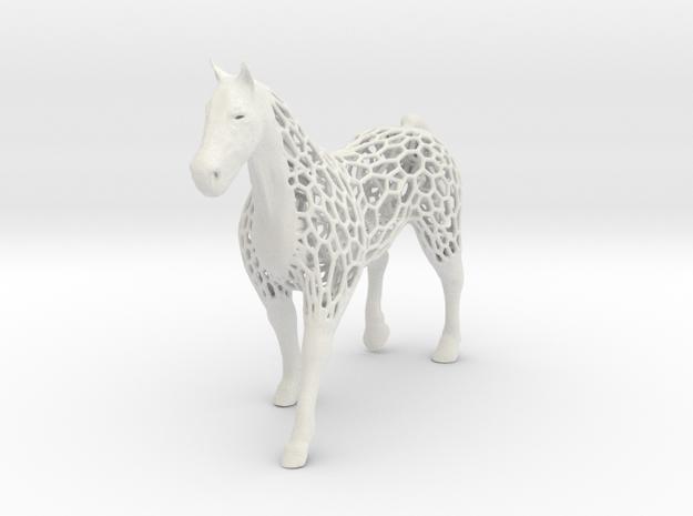 voronoi horse 1.5mm in White Natural Versatile Plastic