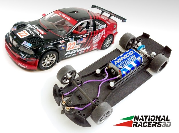 3D Chassis - Fly 320/MIII GTR (Inline) in Black Natural Versatile Plastic