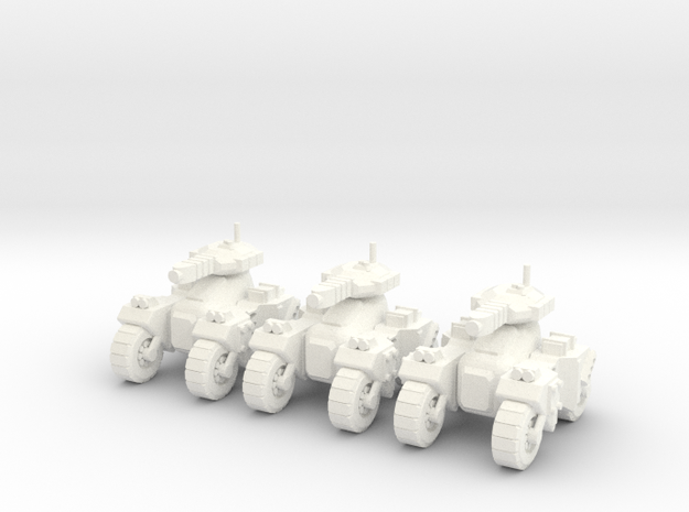 6mm - Plasma Assault Tank  in White Processed Versatile Plastic