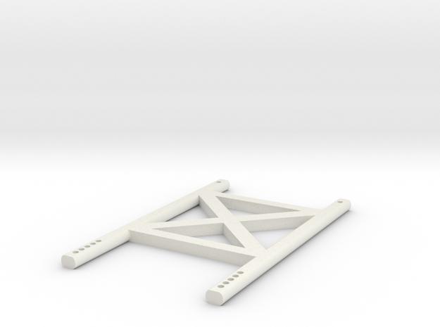SCX10 body post in White Natural Versatile Plastic