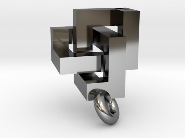 Cubic Trefoil Knot Pendant 3d printed