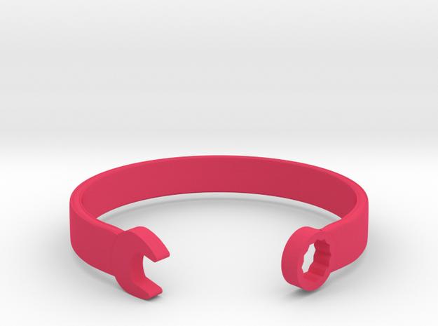 Wrench Bracelet in Pink Processed Versatile Plastic