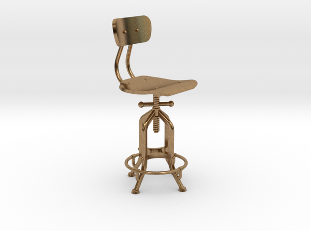 1:24 Industry Stool in Natural Brass