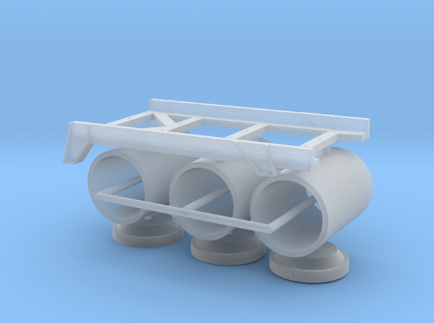1 zu 40 WABO roll off rack  in Smooth Fine Detail Plastic