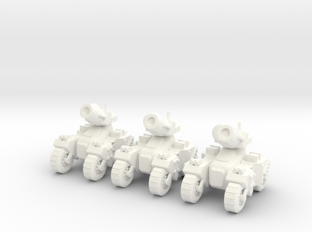 6mm - Rapid deployment Artillery in White Processed Versatile Plastic