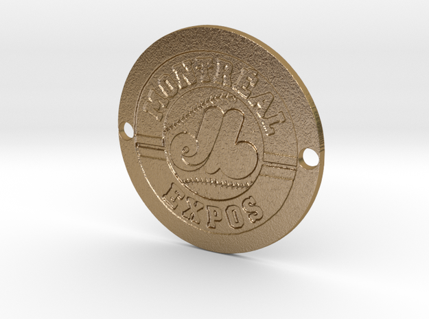 Montréal Expos Custom Sideplate  in Polished Gold Steel