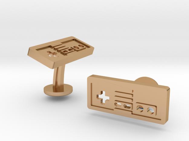 Nintendo NES Cufflinks in Polished Bronze