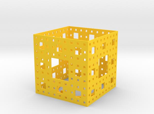 Menger Sponge Tea Light Lantern 3d printed