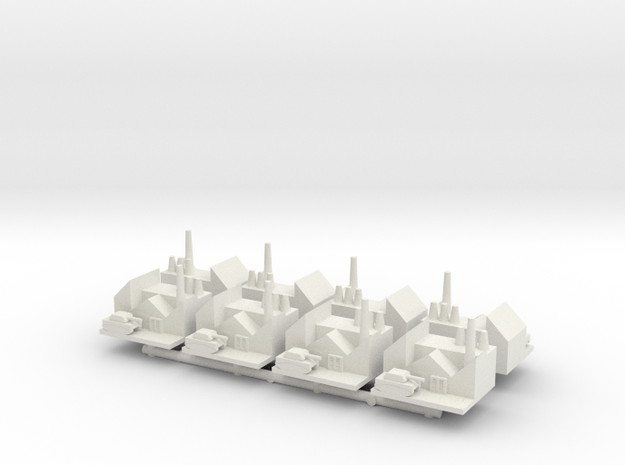 1/285 Armor Research Centers x8 in White Natural Versatile Plastic