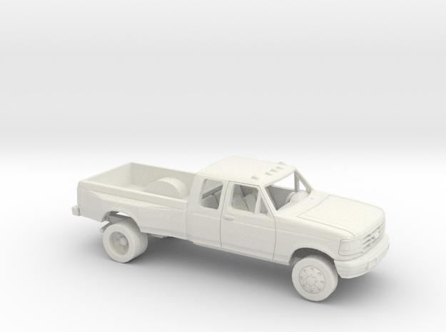 1/64 1992-96 Ford F Series Ext Cab Dually Kit in White Natural Versatile Plastic