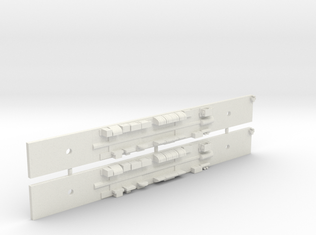 NCC1 - Comeng M Car Chassis Set - N Scale in White Natural Versatile Plastic