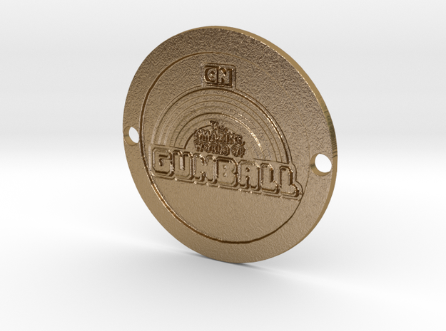 The Amazing World of Gumball Custom Sideplate 2 in Polished Gold Steel