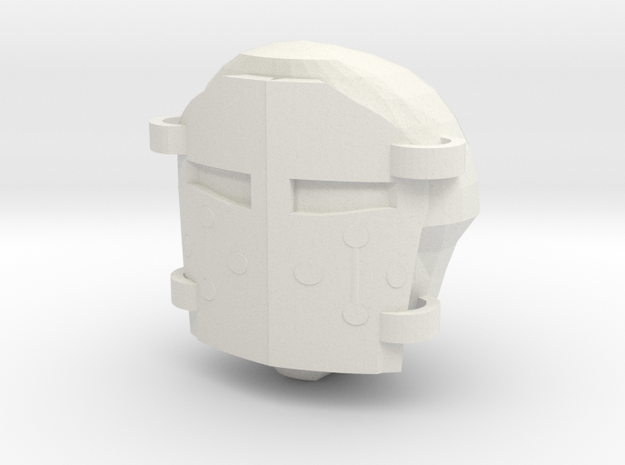WarhammerHelmet in White Natural Versatile Plastic