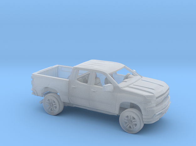 1/160  2019 Chevy Silverado Ext Cab Short Bed Kit in Smooth Fine Detail Plastic