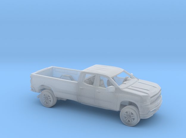 1/160  2019 Chevrolet Silverado ExtCab LongBed Kit in Smooth Fine Detail Plastic