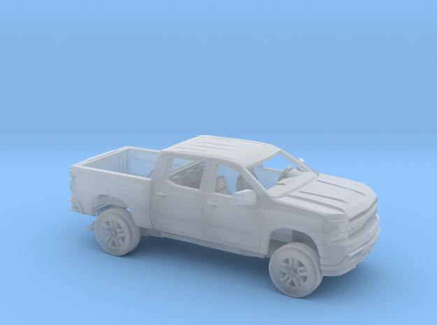 1/87 2019 Chevy Silverado CrewCab  ShortBed Kit in Smooth Fine Detail Plastic