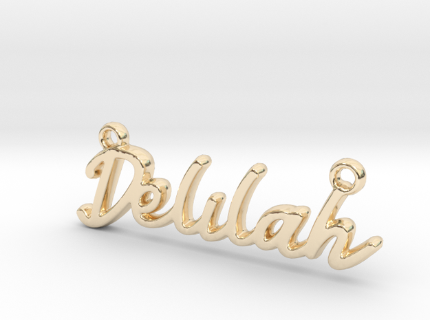 Delilah First Name Pendant in 14k Gold Plated Brass