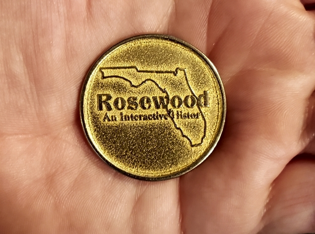Rosewood: An Interactive History Collectible Coin in Polished Gold Steel
