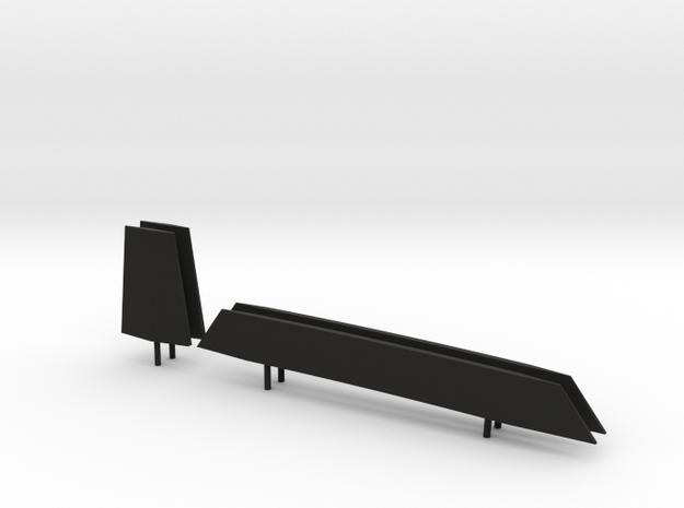 1/96 scale Perry Stabilizer / Keel set in Black Natural Versatile Plastic