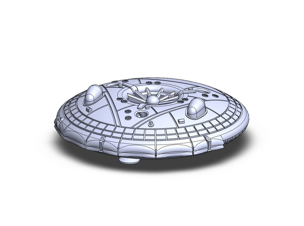 Avrocar VZ-9 Flying Saucer in Smoothest Fine Detail Plastic: 1:200