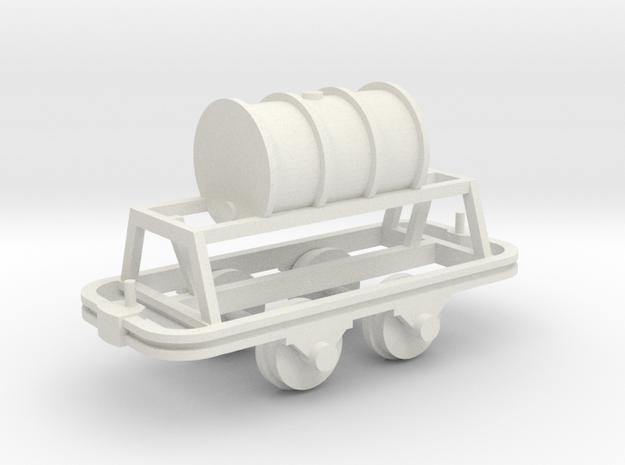 Benzinfaßlore(1Faß) - 1:35 in White Natural Versatile Plastic