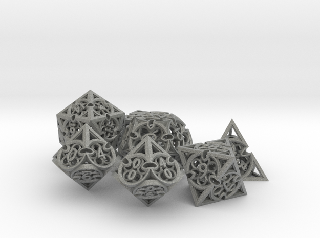 Gothic Rosette Dice Set with Decader