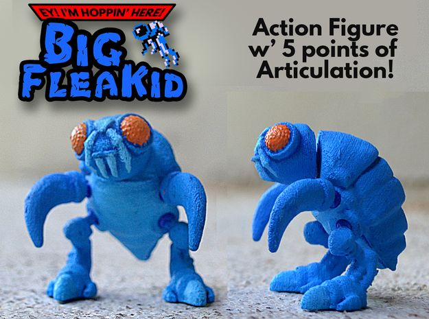 Big FleaKid Action Figure in White Natural Versatile Plastic